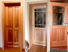 Produktion von Innentüren uns Außentüren aus Echtholz