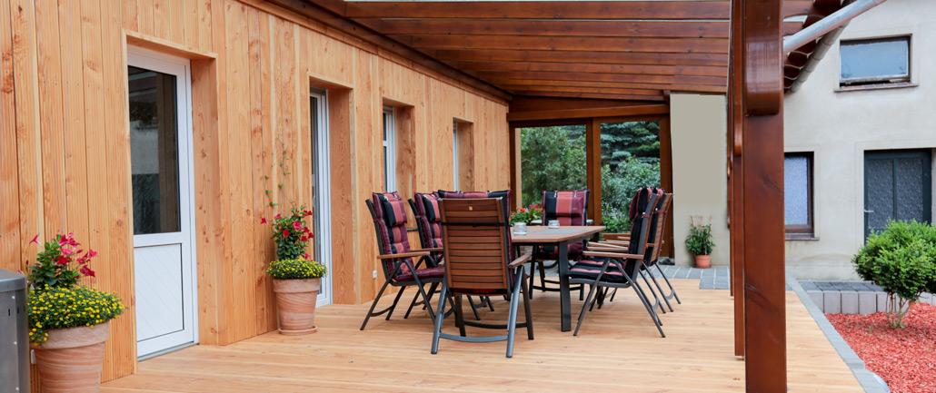 Terrassen und Überdachungen ausHolz